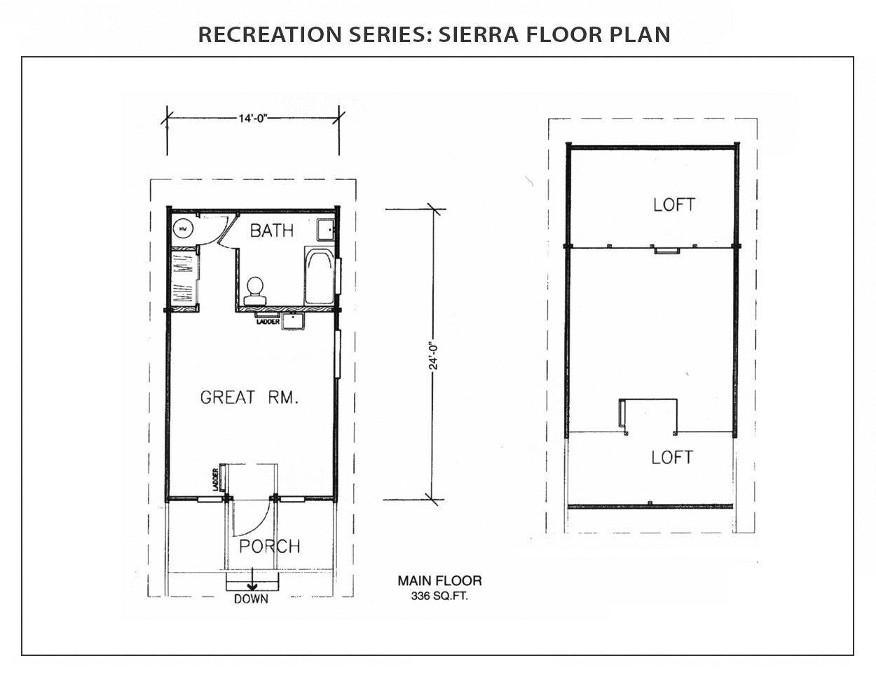 Sierra Floor Plan Recreation Series Ihc